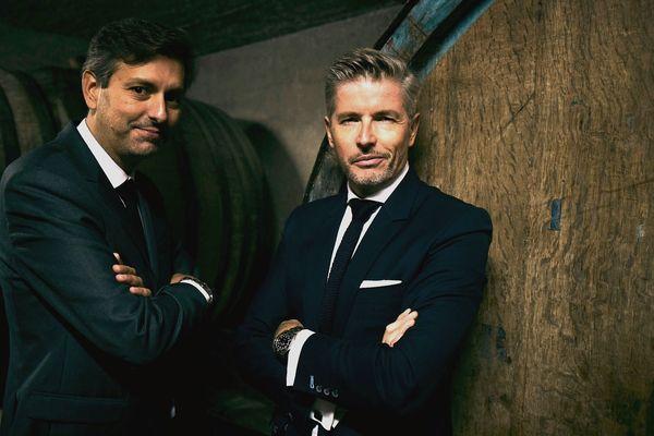 David Matheron (gauche) et Paul-Olivier Claudepierre (droite), les deux repreneurs des vinaigres Martin Pouret.