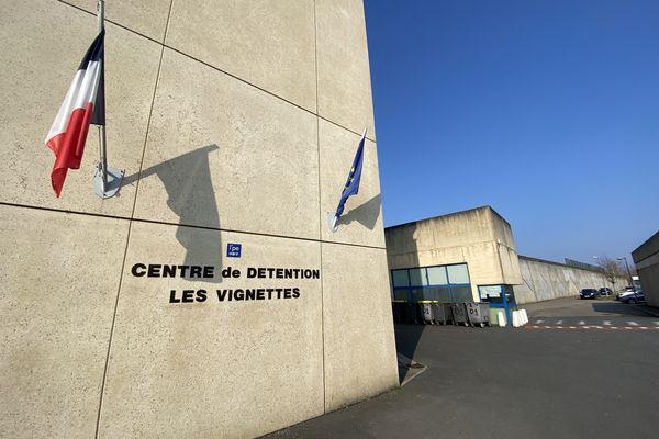 """Entrée du centre de détention """"Les vignettes """" de Val-de-Reuil (Eure)"""