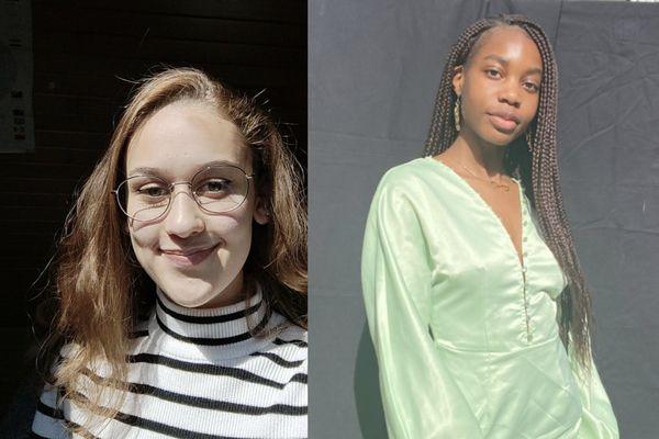 Chloé Galisson a passé son baccalauréat en 2020 à Strasbourg. Lindsay Noukeu s'apprête à le passer cette année.