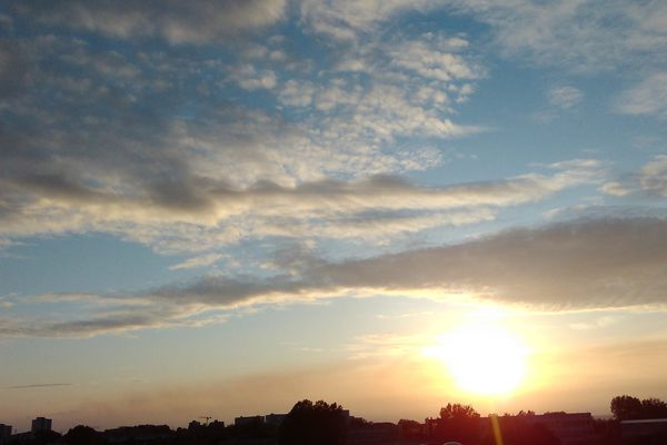 Le ciel de Dunkerque le 22 mai