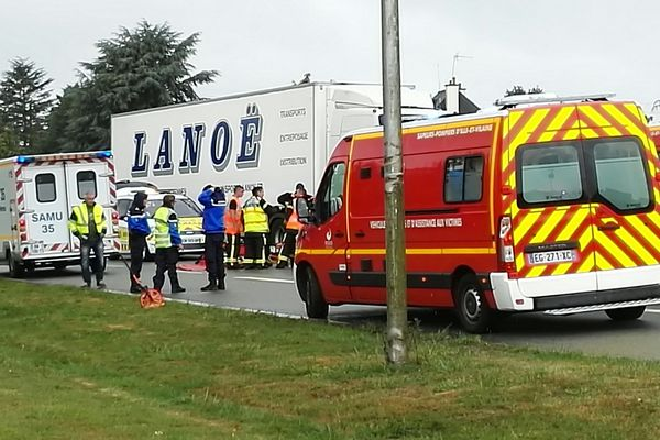 Accident à Noyal-Châtillon-sur-Seiche