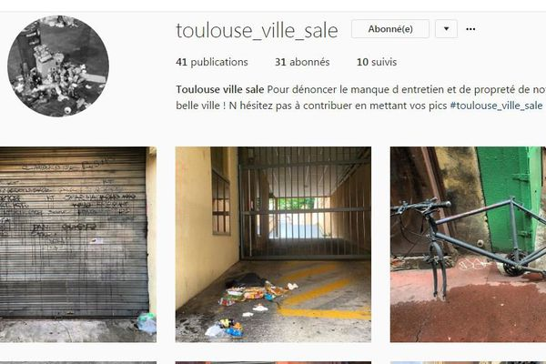 """Un Toulousain a créé un compte Instagram, toulouse_ville_sale, et y publie quotidiennement des photos d'un Toulouse que l'on n'aimerait pas voir. Il veut sensibiliser les élus """"à la réalité"""" de la propreté à Toulouse."""