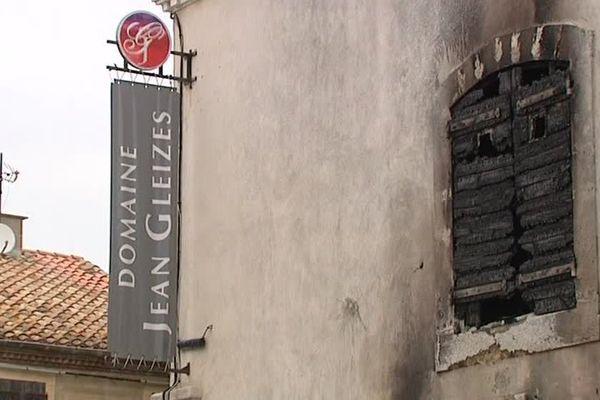 Le caveau de dégustation du domaine Jean Gleyzes a été en partie brûlé dans la nuit de lundi à mardi à Ouveillan, dans l'Aude. Une action revendiquée par le Comité d'Action Viticole.