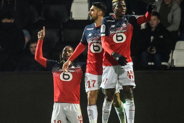 La joie des Lillois après le 2ème but face à Angers