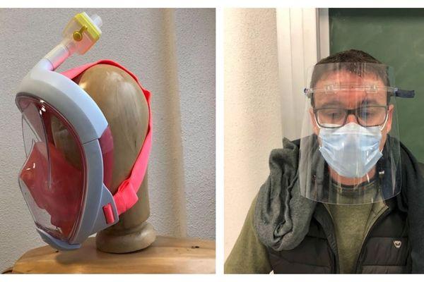 Des pièces en 3D pour adapter des masques de plongée aux besoins des soignants et des visières de protection : ce sont les deux réalisations de l'UTBM, l'école d'ingénieurs de Belfort-Montbéliard.