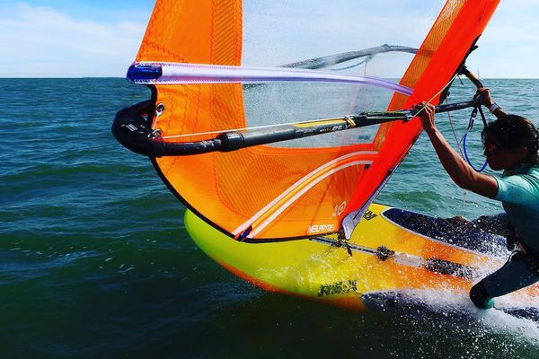 Windsurf Charline Picon Championne De France A Quiberon