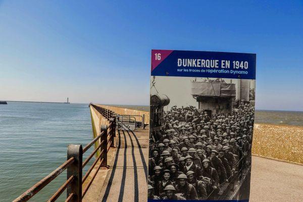 La jetée Est de Dunkerque.
