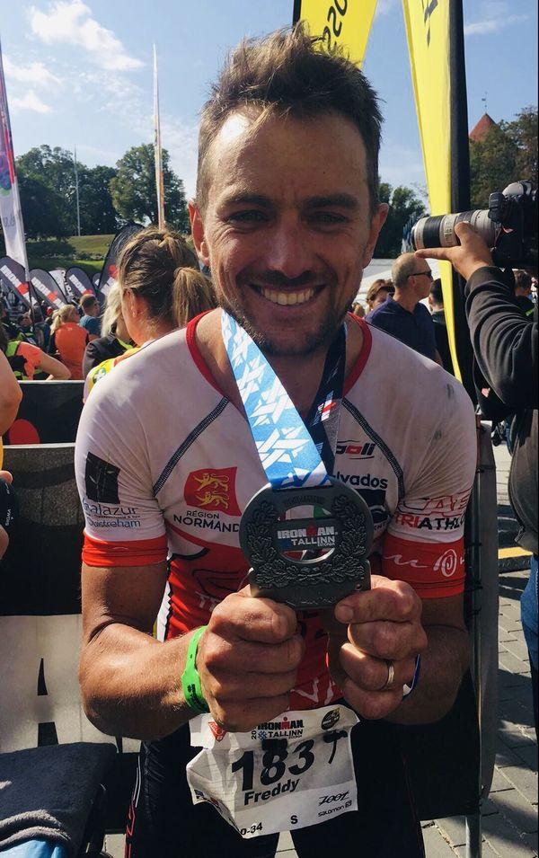 A l'Ironman de Tallinn, Freddy Pommier a décroché son ticket pour Hawaï