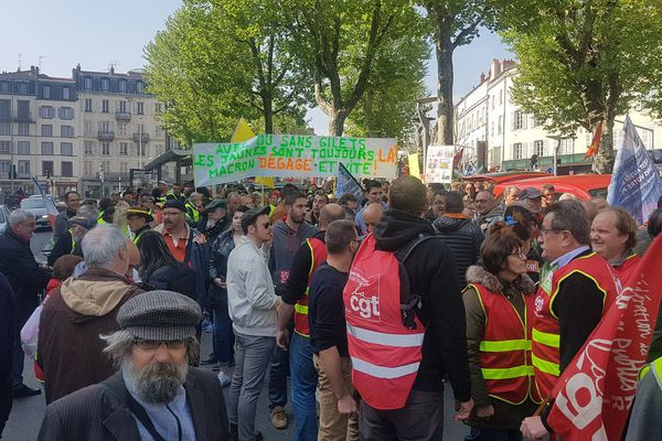 La manifestation du 1er mai à Clermont-Ferrand, en 2019.