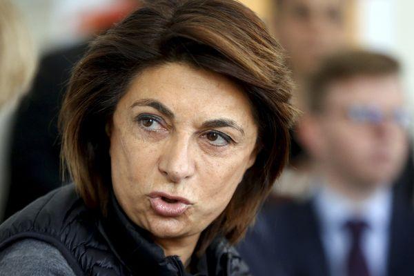 Martine Vassal, tête de liste (LR) d'Une volonté pour Marseille, en vue des élections municipales de 2020.