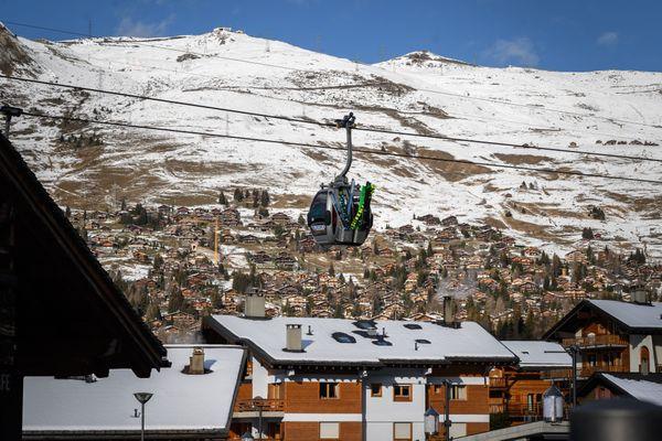 La station de ski suisse du Verbier le 2 décembre 2020.