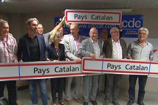 """18 communes des Pyrénées-Orientales se sont dotées de panneaux """"Pays catalan"""" - 22 septembre 2016"""
