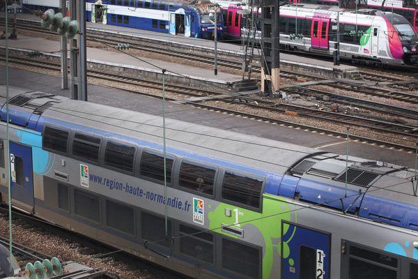 La gare Saint-Lazare à Paris. De nombreux trains sur l'axe Normandie-Paris subissent d'important retards ce vendredi 1er mars 2019 en raison d'une panne de signalisation. (illustration)