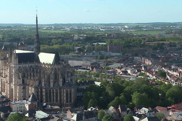 Amiens vue de la tour Perret, mai 2021