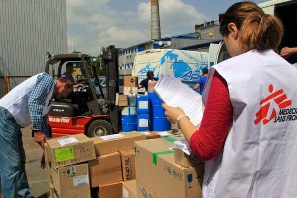 Médecins sans frontières logistique à Mérignac / Illustration