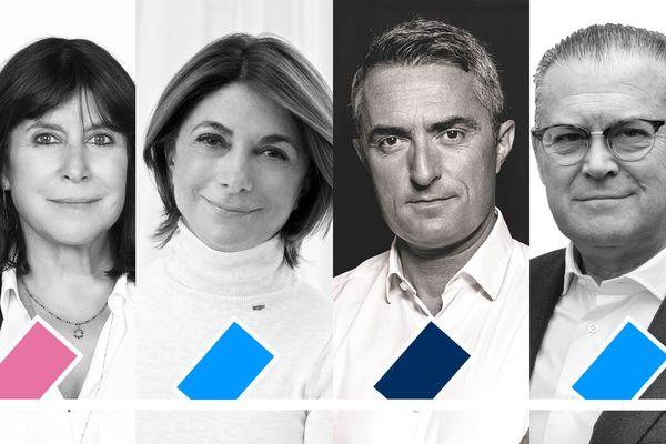 Municipales 2020, la quadrangulaire marseillaise : Michèle Rubirola, Martine Vassal, Stéphane Ravier et Bruno Gilles.