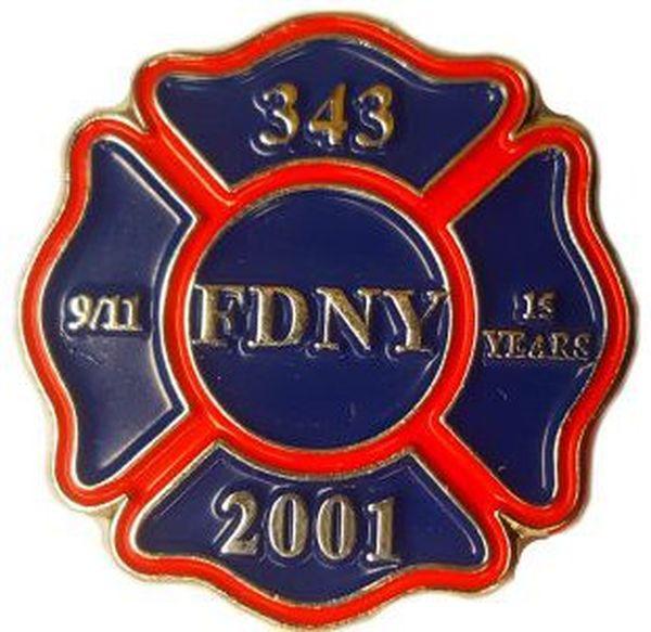 Une médaille commémorative de la brigade de New-York pour les cérémonies des 15 ans