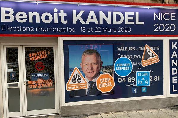 Permanence de Benoît Kandel taguée à Nice