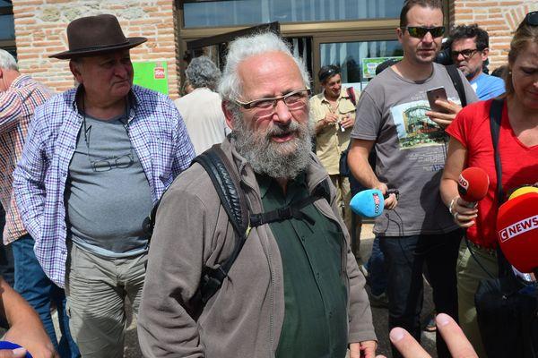 """""""Il y eu consentement mais pas consensus sur la résolution """" explique Christian Conrad, membre du Collectif du Testet, le lundi 9 septembre 2019 à la sortie de la réunion du projet de territoire de Sivens."""