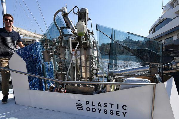 Le navire de Plastic Odyssey doit faire un tour du monde en 2020.