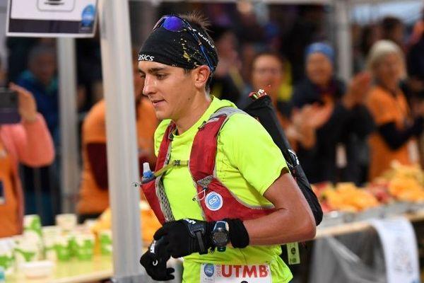 Xavier Thevenard au départ de l'UTMB 2018 à Chamonix
