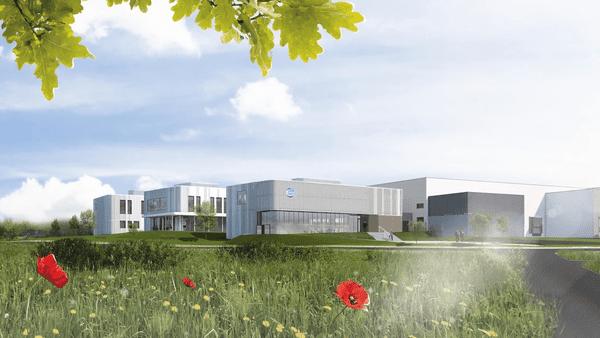 Le nouveau centre de recherche des laboratoires vétérinaires CEVA qui sera inauguré courant 2018 à Laval