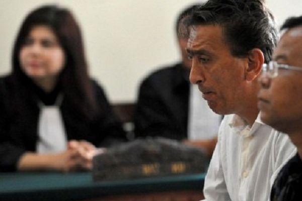 Thierry Verchere, lors de son procès en Indonésie, risquait la peine de mort