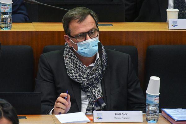 Louis Aliot - maire de Perpignan - 2021.