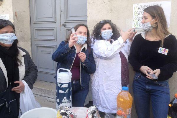 Les profs du lycée Victor Hugo ont symboliquement vacciné contre les E3C.