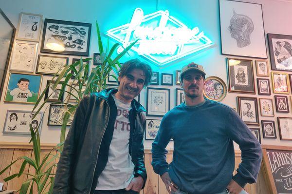 Serge Barbier (à gauche), l'associé, et Sébastien Boyer (à droite), le gérant de Landscape Tattoo.