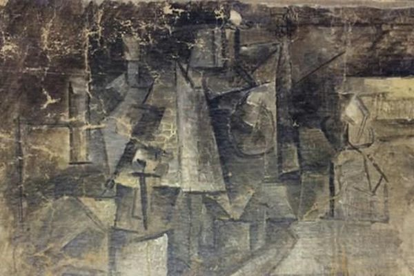 """Une photographie non datée diffusée par le département américain de la Justice de """"La coiffeuse"""", un tableau peint par Pablo Picasso en 1911 -"""