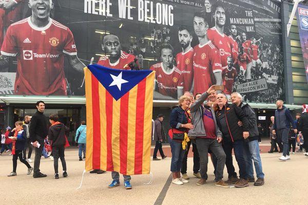 2 000 Catalans ont fait le déplacement à Old Trafford, le mythique stade de Manchester United.
