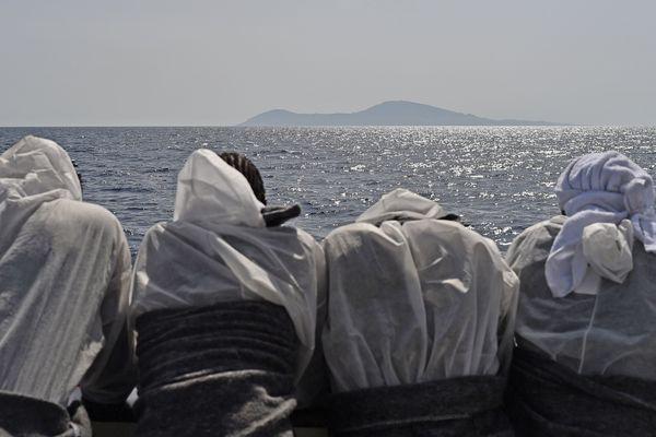 Migrants libyens, à bord de l'Aquarius, le bateau de SOS Méditerranée