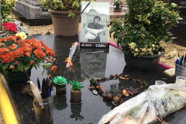La tombe de Jean Cabut, dit Cabu, à Châlons-en-Champagne. Le 7 janvier 2020.