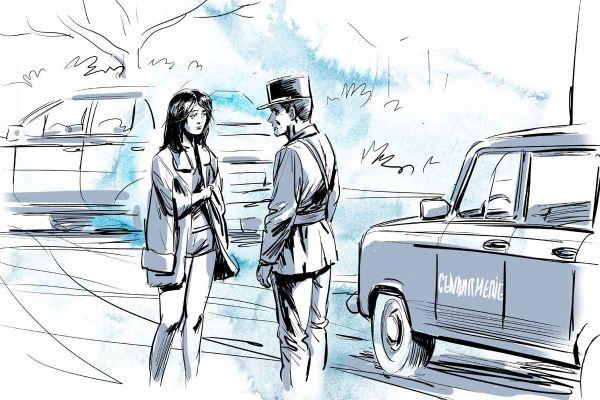 Nadia et le gendarme Allaire.