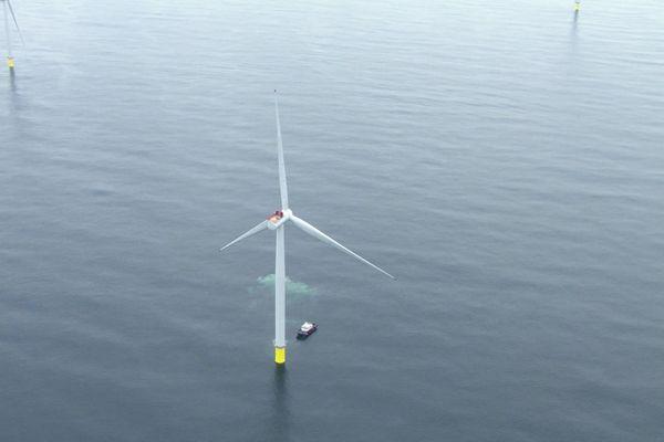 Images 3D du futur parc éolien à Saint-Brieuc