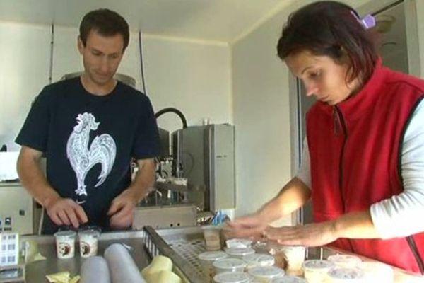 Le couple travaille en GAEC : l'homme et la femme ont le même statut social
