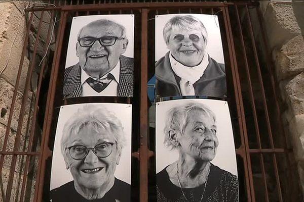 Près de 200 portraits ont été affichés sur les arènes de Nîmes dans le cadre de l'exposition Regarde-moi - mai 2019