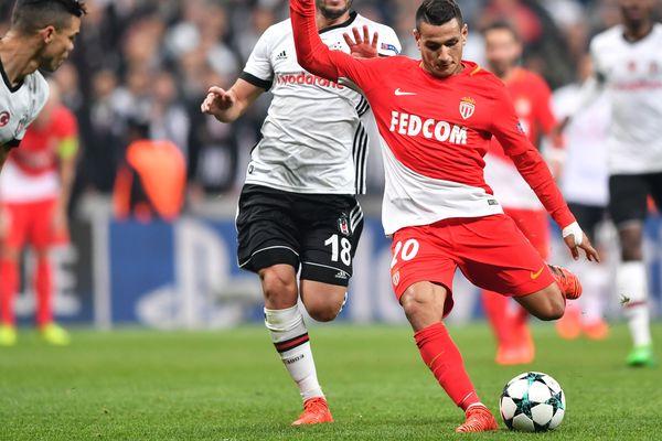 Le monégasque Rony Lopes (à droite) lors du match de Champions League Besiktas - AS Monaco, le 1er novembre 2017