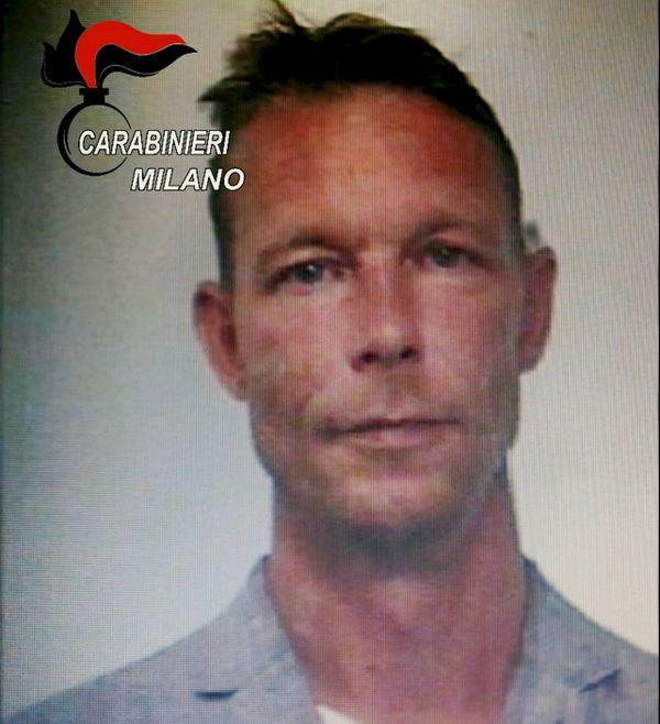 Christian B, photographié après son arrestation.