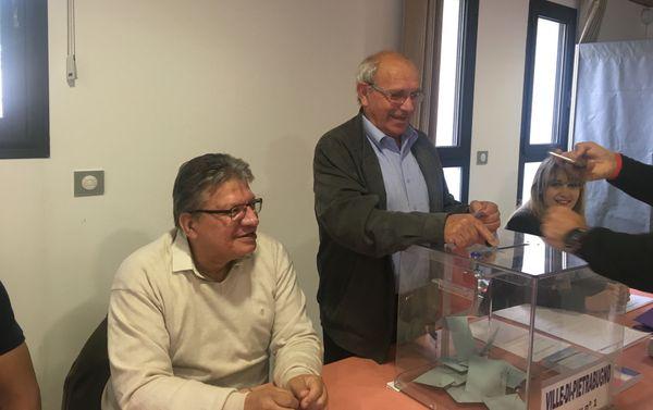 Un des bureaux de vote de Ville-di-Petrabugno.