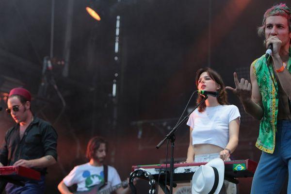 Le groupe La Femme au festival Rock en Seine 2016