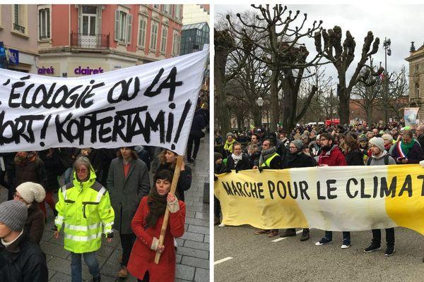 Ils étaient environ 2.800 à s'être mobiliser à Mulhouse et à Strasbourg pour interpeller l'Etat sur l'urgence climatique