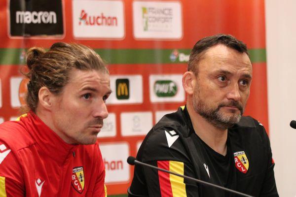 Yannick Cahuzac (milieu) et Franck Haise (entraîneur).