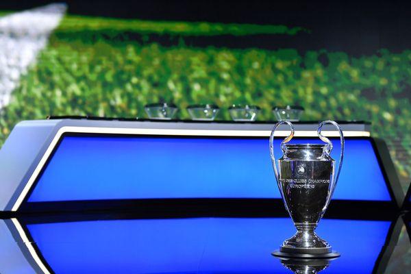 Trophée de la Ligue des Champions lors du tirage au sort à Genève ce 1er octobre 2020
