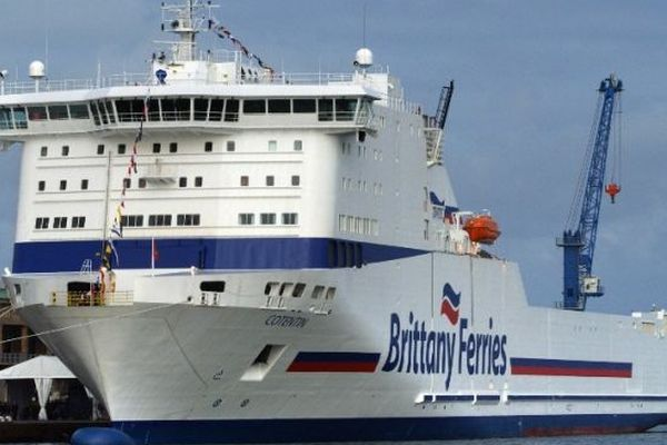"""Le Cotentin"", navire de la Brittany Ferries (archives)"