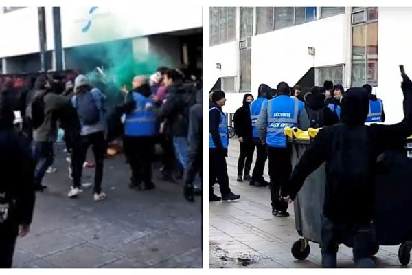 Attaque des étudiants bloqueurs par l'Action française