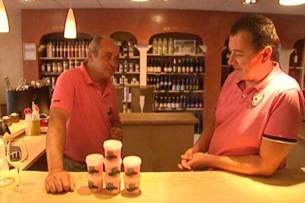Alain Martinez et Barthélémy Gaylord, les deux créateurs du sorbet au rosé