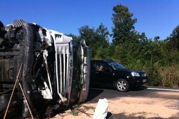 Accident poids-lourds A10