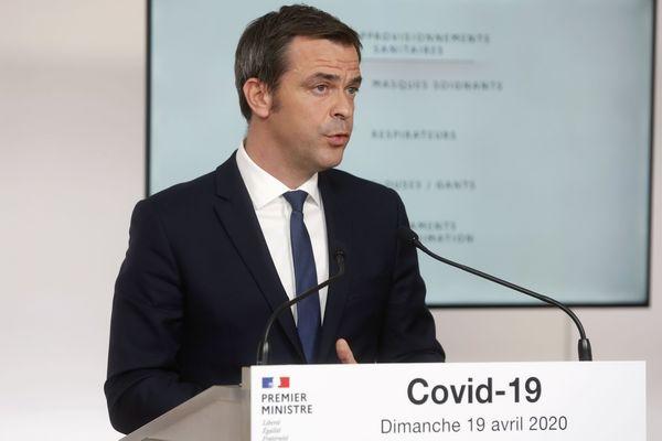Le Ministre de la Santé, Olivier Véran, durant son intervention le dimanche 19 Avril 2020.